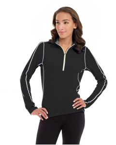 Olivia 1/4 Zip Light Jacket-XS-Black