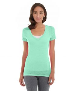 Karissa V-Neck Tee-L-Green